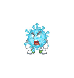 Fever coronavirus mascot design showing angry face vector