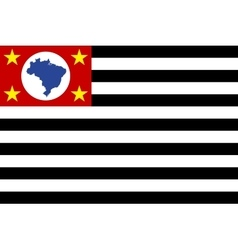 Flag of sao paulo brazil state correct size color vector