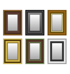 frame picture photo mirror a set picture and vector image