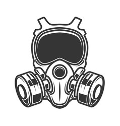 Gas mask isolated on white background biohazard vector