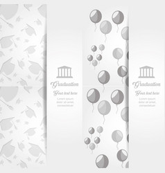Graduation invitation with balloons air and vector