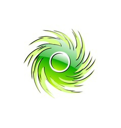 green glossy ornament on the white vector image