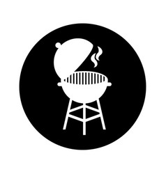 grilled barbeque isolated icon vector image