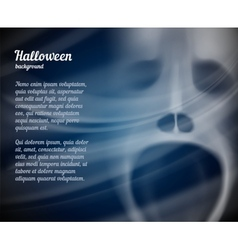 Halloween background with copyspace for text vector image