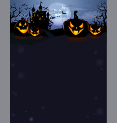 halloween background with dracula castle vector image