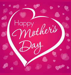 happy mothers day lettering love violet vector image