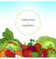 Healthy food fresh raw vegetables vector image