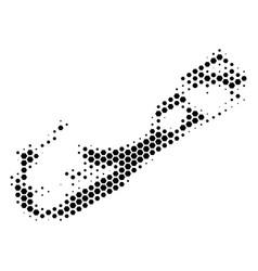 Hexagon halftone bermuda island map vector