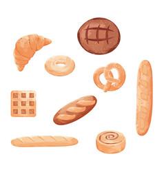 homemade baking freshly baked handmade bread vector image