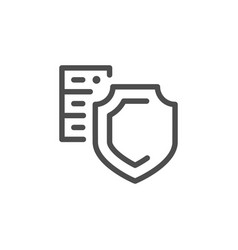 hosting security line icon vector image