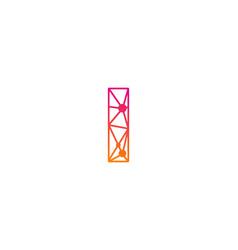 I letter network logo icon design vector