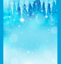 Icicle theme image 2 vector