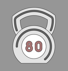 Icon in flat design weight vector