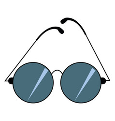 Image blue sunglass or color vector