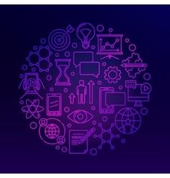 Innovation bright violet vector