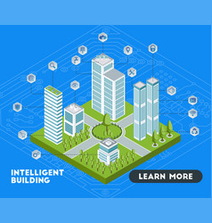 Intelligent buildings banner vector