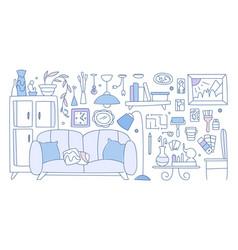 interior design improved interior apartment vector image