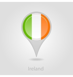 Ireland flag pin map icon vector