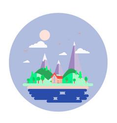 island and seascape earth vector image