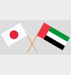 Japan and united arab emirates flags vector