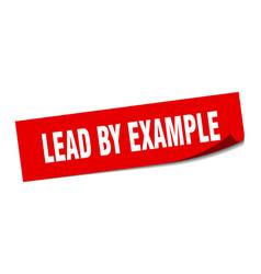 Lead example sticker lead example square vector