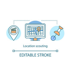 Location scouting concept icon vector