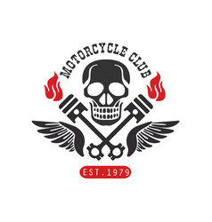 motorcycle club logo est 1979 design element vector image