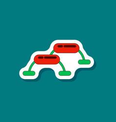 Paper sticker on stylish background steps vector