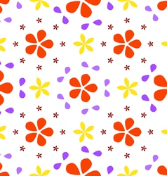 Pattern from the petals vector image