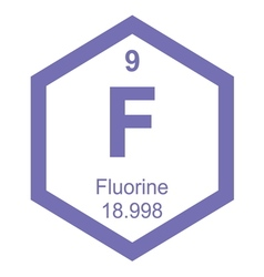 Periodic table fluorine vector image