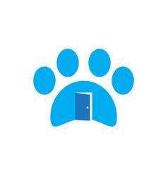 pet house business logo vector image