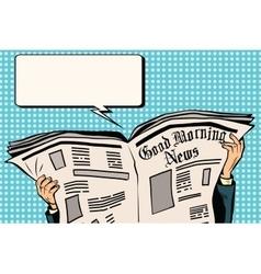 Press newspaper read news vector