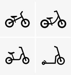 runbikes vector image