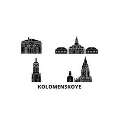 russia kolomenskoye church of the ascension flat vector image