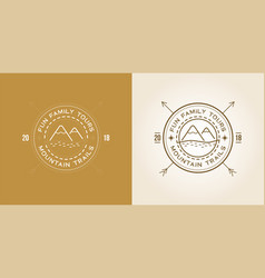 set of outdoor logo design template with vector image