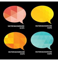 Set of speech bubble vector image