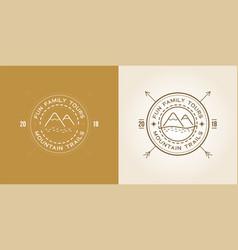 set outdoor logo design template vector image