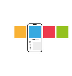 smartphone with multicolored square web carousel vector image