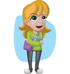 Smiling student vector image