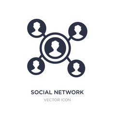 Social network icon on white background simple vector