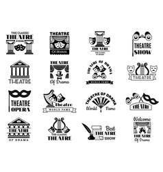 theatre badges broadway emblem entertainment show vector image