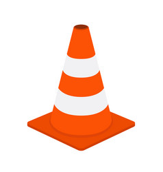 Traffic cone road equipment cartoon style vector