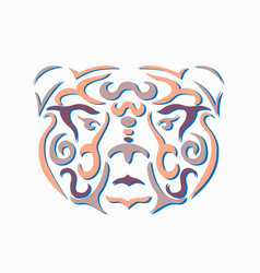 tribal bear vector image