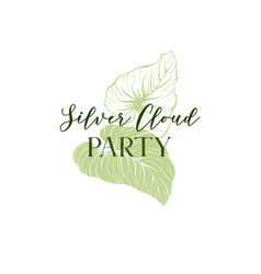 tropical party invitation hand drawn template vector image