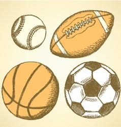 US Football Ball Basket vector image