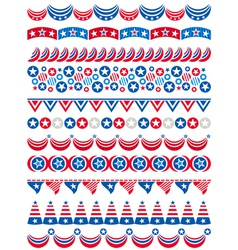 USA decorative borders ornamental rules dividers vector