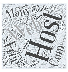 Using free hosting services word cloud concept vector