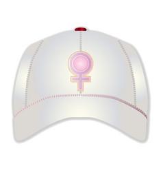 White baseball cap vector