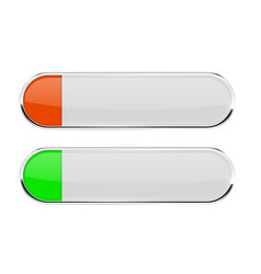 White buttons with green and orange tags menu vector