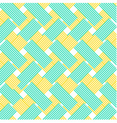 Yellow and blue zig zag lines pattern background vector